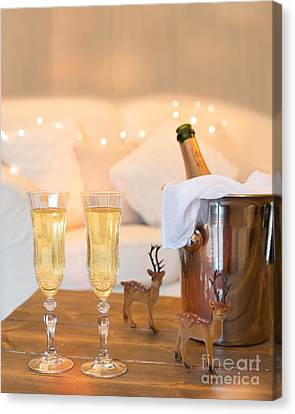 Christmas Champagne Canvas Print by Amanda And Christopher Elwell