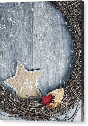 Christmas Wreath Canvas Print by Amanda And Christopher Elwell