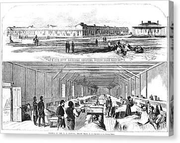Civil War Hospital Canvas Print by Granger
