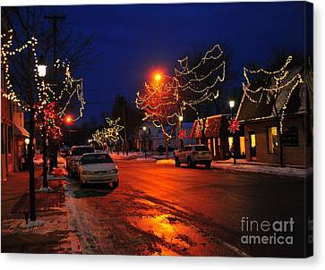 Clare Michigan At Christmas 3 Canvas Print by Terri Gostola
