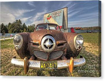 Classic Car At The Drive In Canvas Print by Twenty Two North Photography