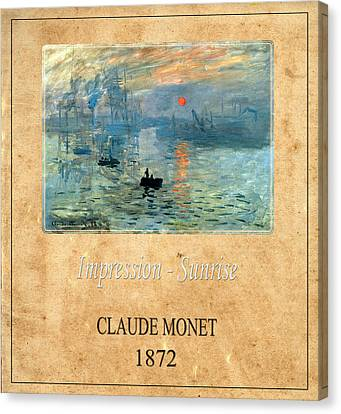 Claude Monet 2 Canvas Print by Andrew Fare