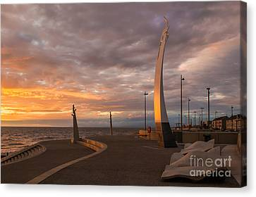 Cleveleys Sunset Canvas Print by John Collier