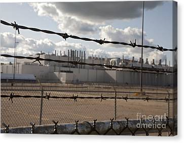 Closed Factory Canvas Print by Jim West