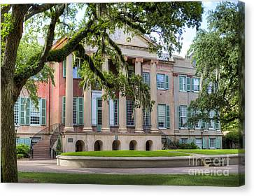 College Of Charleston Randolph Hall Canvas Print by Dustin K Ryan