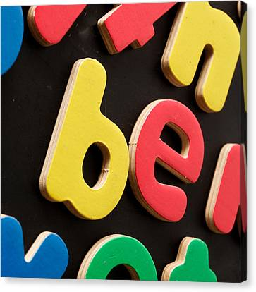 Colorful Letters Canvas Print by Tom Gowanlock