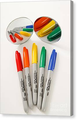 Colorful Markers Canvas Print by Photo Researchers