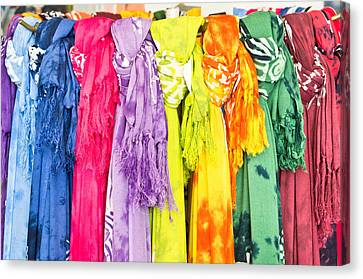 Colorful Scarves Canvas Print by Tom Gowanlock
