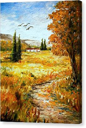 Colors Of Autumn 2 Canvas Print by Constantinos Charalampopoulos
