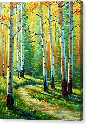 Colors Of The Season Canvas Print by David G Paul