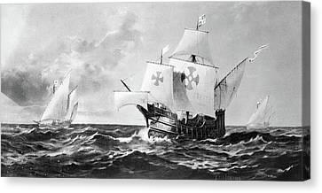 Columbus Caravels Canvas Print by Granger