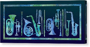 Cool Blue Band Canvas Print by Jenny Armitage