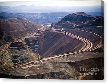 Copper Mine, Arizona, Usa Canvas Print by Arno Massee