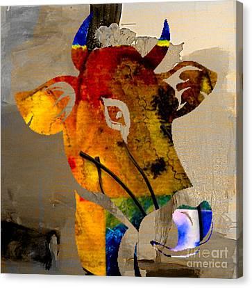 Cow Canvas Print by Marvin Blaine