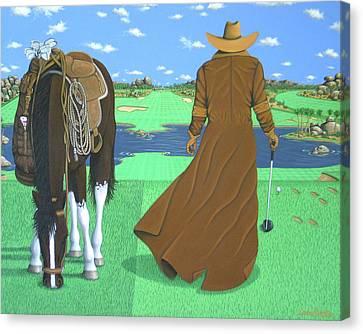 Cowboy Caddy Canvas Print by Lance Headlee