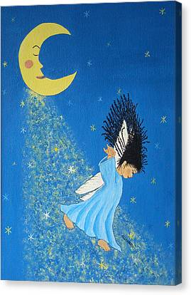 Dancing On Moonbeams Canvas Print by Pamela Allegretto