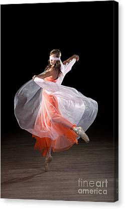 Dancing With Closed Eyes Canvas Print by Cindy Singleton