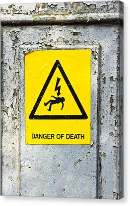 Danger Of Death Canvas Print by Tom Gowanlock