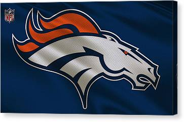 Denver Broncos Uniform Canvas Print by Joe Hamilton