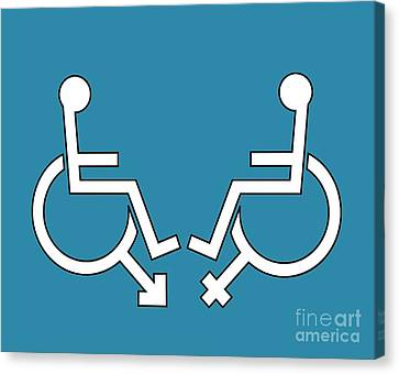 Disability Sexuality, Conceptual Artwork Canvas Print by Stephen Wood