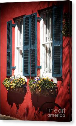 Double Windows Canvas Print by John Rizzuto