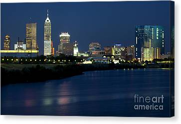 Downtown Indianapolis Indiana Canvas Print by Anthony Totah
