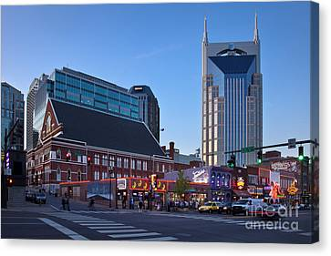 Downtown Nashville Canvas Print by Brian Jannsen