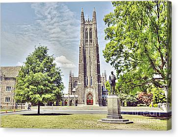Duke Chapel In Spring Canvas Print by Emily Kay