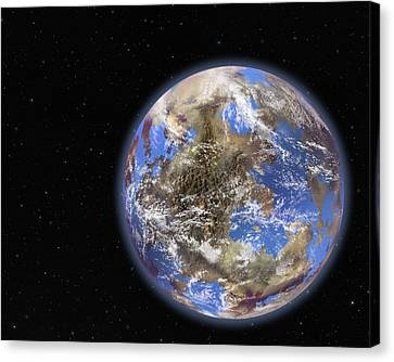Earth-like Extrasolar Planet, Artwork Canvas Print by Science Photo Library