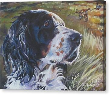 English Setter Canvas Print by Lee Ann Shepard