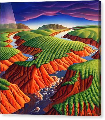 Erosion Canvas Print by Robin Moline