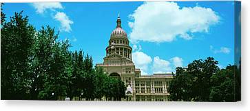 Facade Of The Texas State Capitol Canvas Print by Panoramic Images