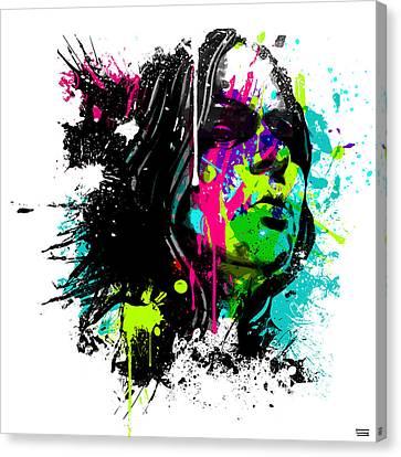 Face Paint 4 Canvas Print by Jeremy Scott