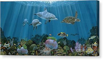 Fantasy Reef Re0020 Canvas Print by Carey Chen