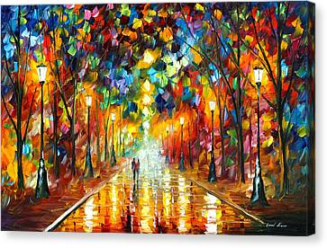 Farewell To Anger Canvas Print by Leonid Afremov