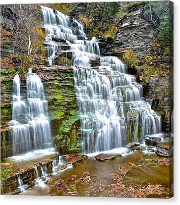 Finger Lakes Waterfall Canvas Print by Frozen in Time Fine Art Photography