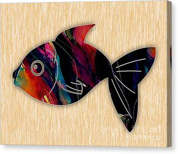 Fish Painting Canvas Print by Marvin Blaine