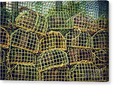 Fishing Traps Canvas Print by Carlos Caetano