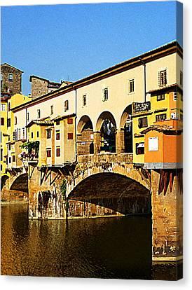 Florence Italy Ponte Vecchio Canvas Print by Irina Sztukowski