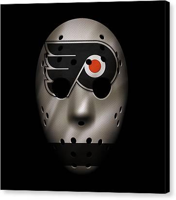 Flyers Jersey Mask Canvas Print by Joe Hamilton