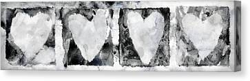 Four Hearts Canvas Print by Carol Leigh