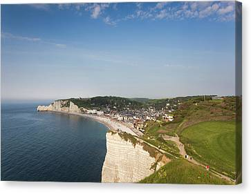 France, Normandy, Etretat, Elevated Canvas Print by Walter Bibikow