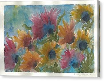 Free Spirits Canvas Print by Anne Olivier