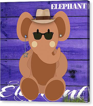 Friendly Elephant Art Canvas Print by Marvin Blaine
