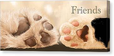 Friends Canvas Print by Veronica Minozzi