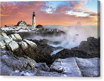 Frozen Dawn Canvas Print by Benjamin Williamson