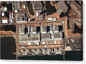 Fukushima Nuclear Power Plant Canvas Print by Digital Globe