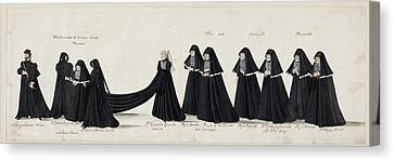 Funeral Processions Canvas Print by British Library