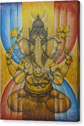 Ganesha  Canvas Print by Vrindavan Das