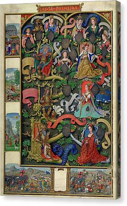 Genealogy Of Kings Of Navarre Canvas Print by British Library